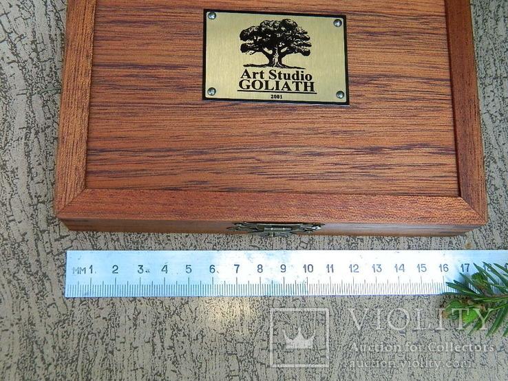 Мюнц-бокс.Червоне дерево.Ложементи d16/18/20mm.Для патинування/зберігання монет., фото №10