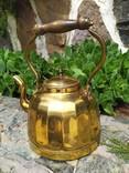 Чайник коллекционный граненый Европа латунь, фото №5