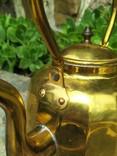 Чайник коллекционный граненый Европа латунь, фото №8