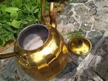 Чайник коллекционный граненый Европа латунь, фото №10