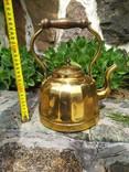 Чайник коллекционный граненый Европа латунь, фото №12