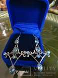 Серьги ''Malgorzata'' с голубыми цирконами, серебро 925'', Европа, фото №2