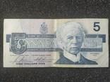 Канада Canada - Долар Dollar Доллар - 5 - P95 - 1986, фото №2