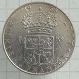 1 крона 1956г Швеция серебро, фото №2