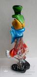 Клоун Муранское стекло Италия оригинал 1974 г, фото №6