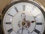 Карманные часыЗа отличную стрельбу Ун.Офицер 5роты Шуляков с нагрудным знаком, фото №9