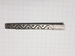 Зажим для галстука серебро 875 пр. Звезда, фото №3