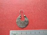Серьга 1 шт. (серебро 84), фото №2
