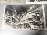 Открытки С Новым годом 3 штуки 1952 тираж 50000, фото №8