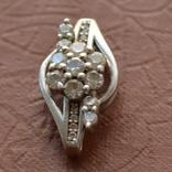 Кулон Цветок серебро, фото №2