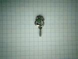 Підвіс срібний 875 СССР із самоцвітом, фото №4