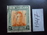 Британские колонии. Новая Зеландия. 1947 г. 2- шилинга гаш, фото №2