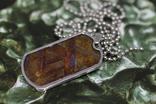 Кулон- жетон з метеоритом Seymchan, з сертифікатом, фото №4