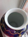 Винтажная оригинальная большая фарфоровая ваза Wollendorf Кобальт, фото №4