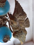 Старинный бронзовый набор для соли и перца, фото №6