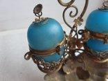 Старинный бронзовый набор для соли и перца, фото №11