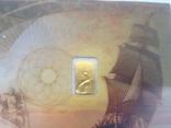 Слиток золота 999.9 0,1 гр. Лот №1, фото №4
