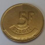 Бельгія 5 франків, 1993 фото 1