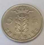 Бельгія 5 франків, 1965 фото 2