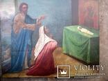 Старовинна ікона - Моління перед іконою Св. Миколая, фото №4