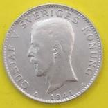 Швеція 1 крона, 1941р. Срібло., фото №2