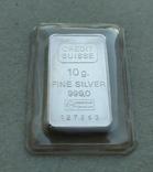 Слиток серебро 999 вес 10 грамм, фото №2