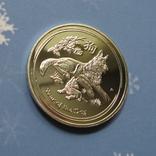 Австралия 1 доллар Proof. Год собаки 2018 год. Копия., фото №3