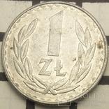 Польща 1 злотий, 1988