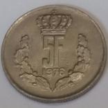 Люксембург 5 франків, 1976