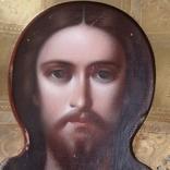 Икона Спаситель в окладе  Киевской Мариинской общины Красного Креста от єпископа, фото №2