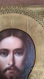 Икона Спаситель в окладе  Киевской Мариинской общины Красного Креста от єпископа, фото №6