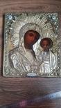 Икона Казанская Богородица в серебре 84* финифти, фото №2