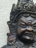 Старинная бронзовая(красная бронза) скульптура Тибетская, фото №10