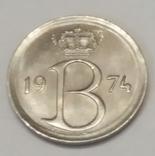 Бельгія 25 сантимів, 1974