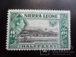 Британские колонии. Сьерра Леоне.  марка  MLH, фото №2