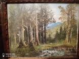 Старинная картина в деревянной раме,пейзаж, фото №5