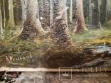 Старинная картина в деревянной раме,пейзаж, фото №9