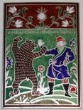 """Сувенирная медаль (плакетка) посвященная """"Олимпиада-80""""., фото №2"""