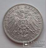 3 марки 1911г.Вильгельм2  Пруссия, фото №3