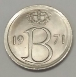 Бельгія 25 сантимів, 1971 фото 2