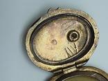Старинный кулон-локет, подвеска, медальон для фото,штихель Серебро, 875 проба Голова, фото №8
