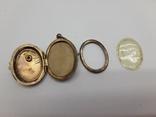 Старинный кулон-локет, подвеска, медальон для фото,штихель Серебро, 875 проба Голова, фото №10