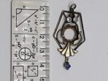 Кулон серебро периода раннего СССР 875 проба, голова, Винтаж, фото №5