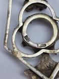 Кулон серебро периода раннего СССР 875 проба, голова, Винтаж, фото №7