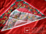 Платок красный х/б, 70х70 см., СССР, не носился, фото №4
