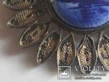 Брошь серебро клеймо 835 пр скань Голландия Дельфт, фото №8