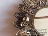 Брошь серебро клеймо 835 пр скань Голландия Дельфт, фото №9