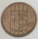 Нідерланди 5 центів, 1984