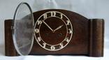Каминные часы с боем Junghans 1934 г. W278 Германия., фото №3