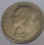 Бельгія 1 франк, 1957